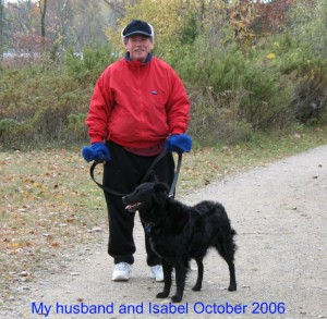 Isabel and Jim on their daily walk